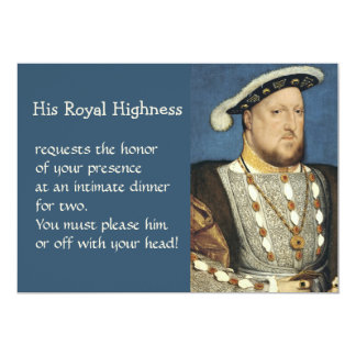 Holbein Portrait of Henry VIII King of England 13 Cm X 18 Cm Invitation Card