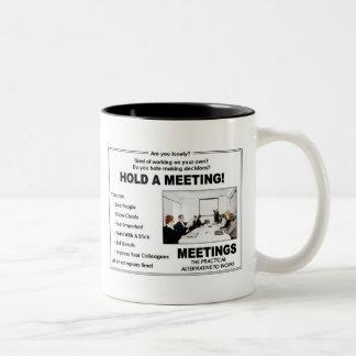 Hold A Meeting! Two-Tone Mug