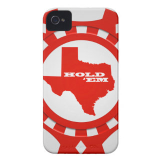 Hold 'Em Poker Chip Blackberry Case (red)