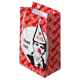 Hold My Beer Funny Justin trudeau Canada Clown Small Gift Bag