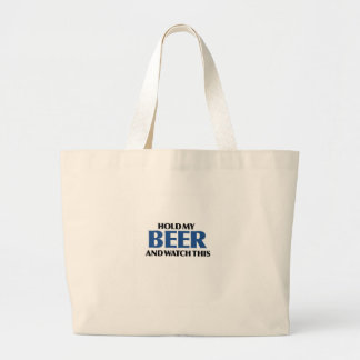 Hold My Beer (The Blue Bomber) Jumbo Tote Bag