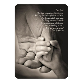 Hold My Hand Father Request Card
