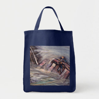 Hold on dad grocery tote bag