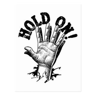 Hold On! Hand Postcard
