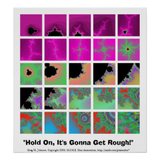 """""""Hold On, It's Gonna Get Rough!"""" Poster"""