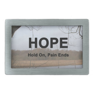 Hold On, Pain Ends Rectangular Belt Buckle