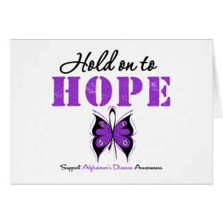Hold On to HOPE Alzheimer's Disease Greeting Card