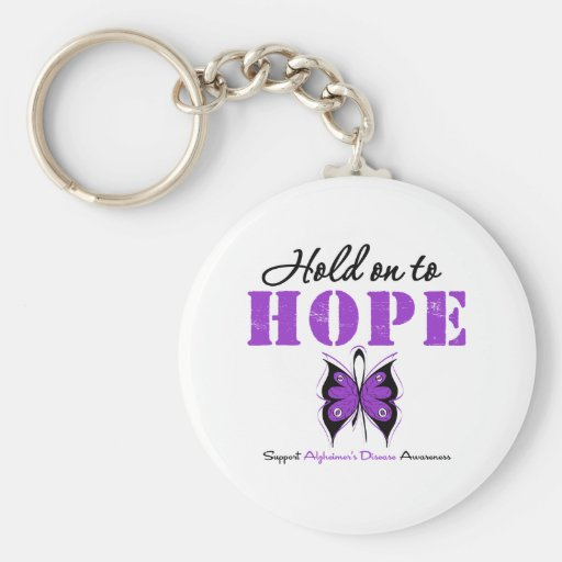 Hold On to HOPE Alzheimer's Disease Keychains