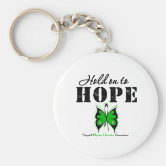 Hold On To Hope Bipolar Disorder Basic Round Button Key Ring