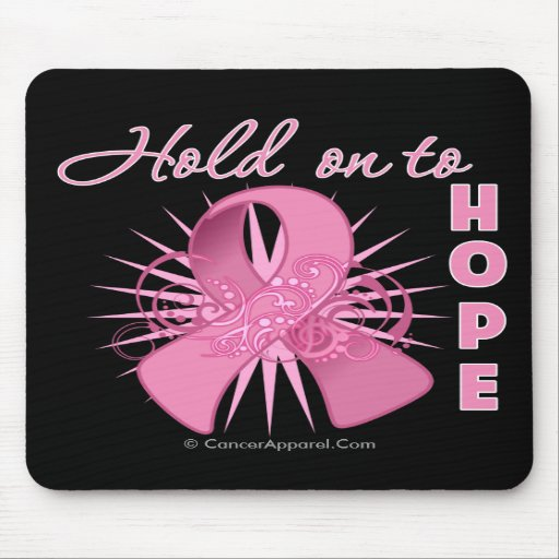 Hold On To Hope - Breast Cancer Mouse Pad