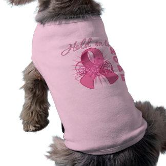 Hold On To Hope - Breast Cancer Sleeveless Dog Shirt