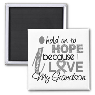Hold On To Hope Grandson Brain Cancer Square Magnet