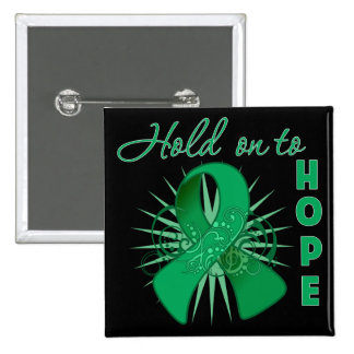 Hold On To Hope - Liver Cancer 15 Cm Square Badge