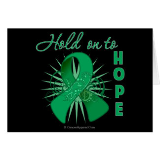 Hold On To Hope - Liver Cancer Greeting Card