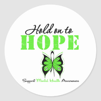 Hold on to Hope Mental Health Awareness Round Sticker