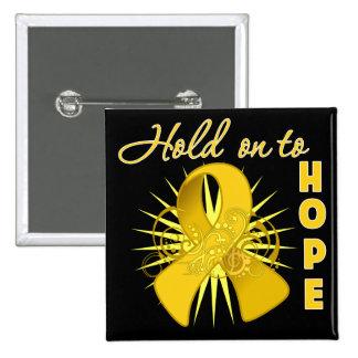 Hold on To Hope - Neuroblastoma 15 Cm Square Badge