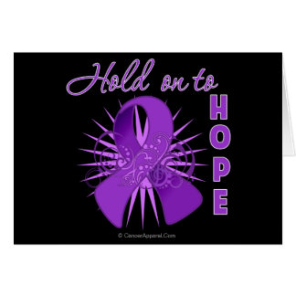 Hold On To Hope - Pancreatic Cancer Greeting Card