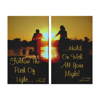 Hold On To the Light Stretched Canvas Print