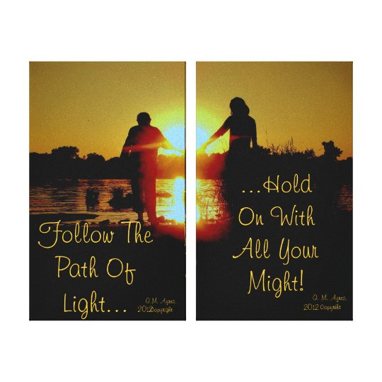 Hold On To the Light Canvas Print