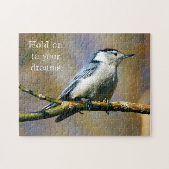 Hold On White Breasted Nuthatch Puzzle