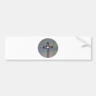 Hold the Light Inside Cross Circle Bumper Sticker