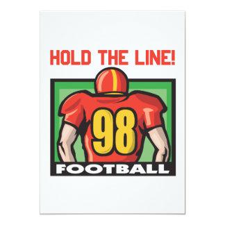 Hold The Line 13 Cm X 18 Cm Invitation Card