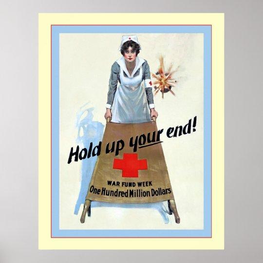 Hold Up Your End! ~ Vintage Nurse Poster