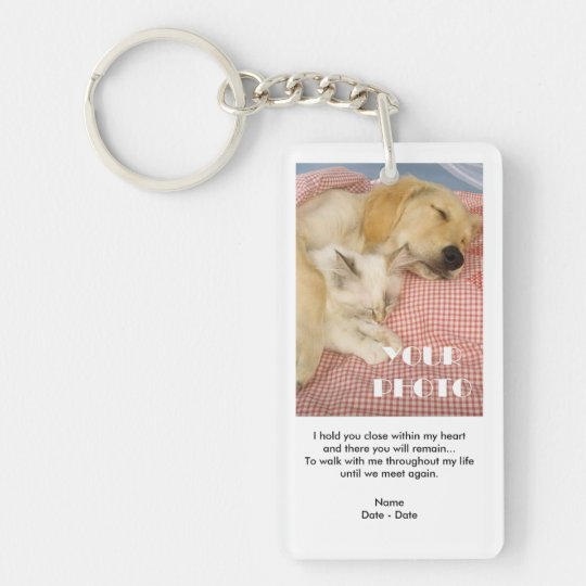 Hold You Close Pet Memorial Keychain