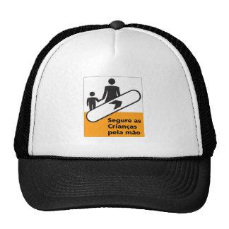 Hold Your Children Sign, Brazil Mesh Hats