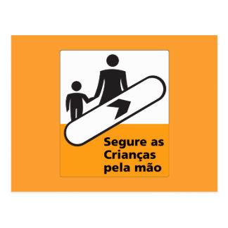 Hold Your Children Sign, Brazil Postcard
