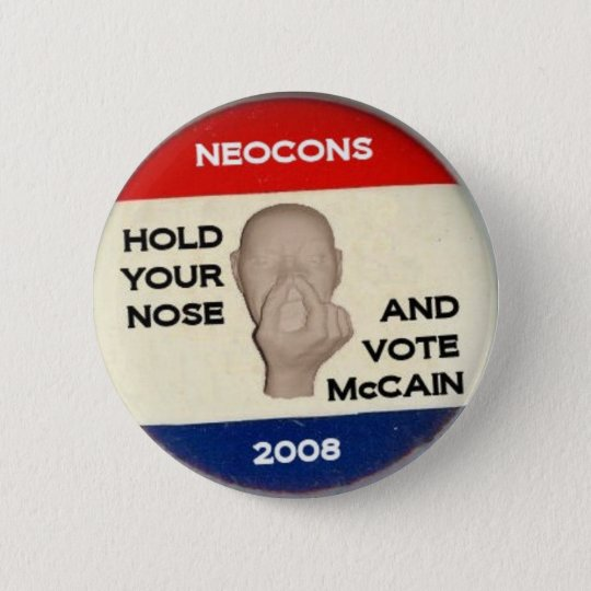 Hold Your Nose And Vote 6 Cm Round Badge