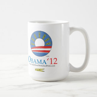 Hold Your Nose and Vote Obama 2012 Coffee Mugs