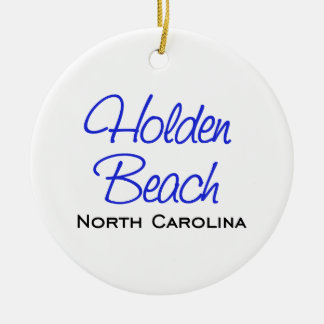 Holden Beach, NC Round Ceramic Decoration