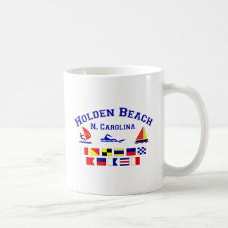 Holden Beach Nc Signal Flags Basic White Mug