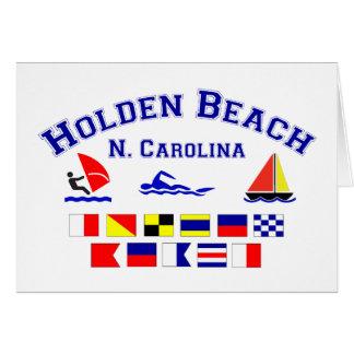 Holden Beach Nc Signal Flags Greeting Card