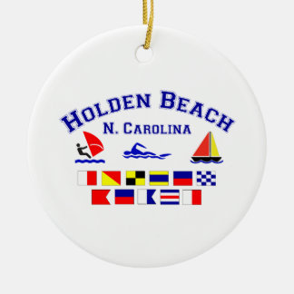 Holden Beach Nc Signal Flags Round Ceramic Decoration
