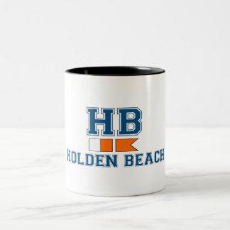 Holden Beach. Two-Tone Coffee Mug
