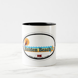 Holden Beach. Two-Tone Mug