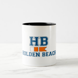 Holden Beach. Two-Tone Mug