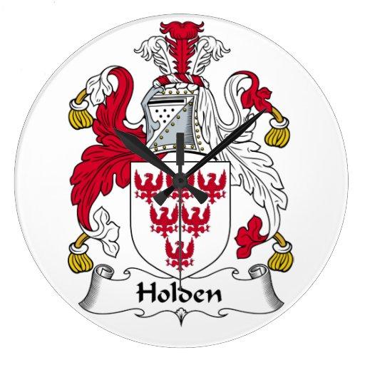 Holden Family Crest Wallclock