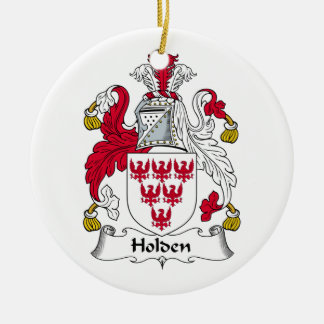 Holden Family Crest Round Ceramic Decoration