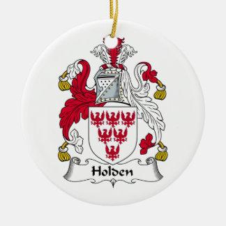 Holden Family Crest Round Ceramic Decoration