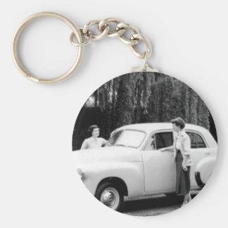 Holden FJ Basic Round Button Key Ring