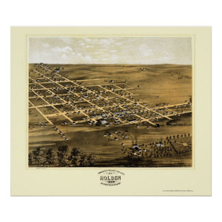 Holden, MO Panoramic Map - 1869 Poster