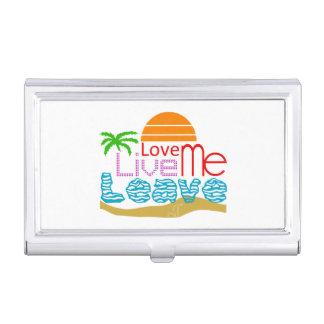 Holder Card Valentine - Sea, sun, beach Case For Business Cards