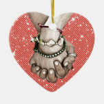 Holding Hands Ceramic Heart Decoration