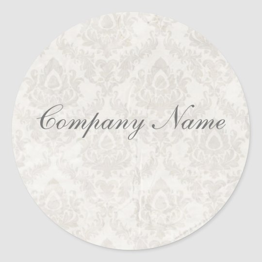 holding hands damask wedding planner business classic round