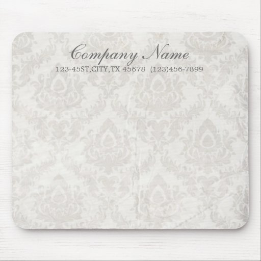 holding hands damask wedding planner business mouse pads
