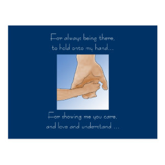 Holding Hands Father's Day Card Postcard