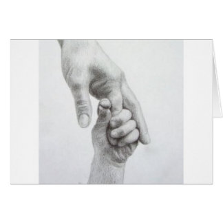 Holding hands greeting card